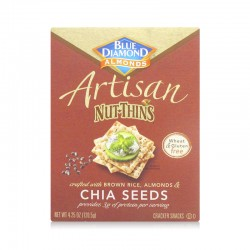 Blue Diamond Chia Seeds Artisan Nut Thins