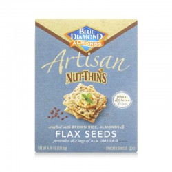Blue Diamond Flax Seeds Artisan Nut Thins