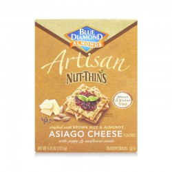 Blue Diamond Asiago Cheese Artisan Nut Thins