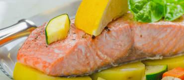 Baked Salmon Steak with Lemon